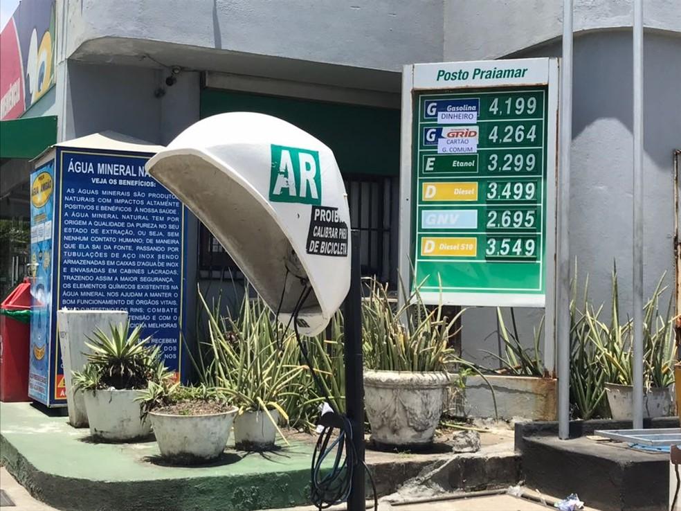 Sobe preço da gasolina em Maceió (Foto: Michelle Farias/G1)