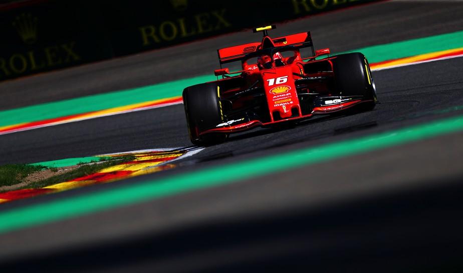 Em nova dobradinha da Ferrari, Charles Leclerc domina segundo treino em Spa-Francorchamps