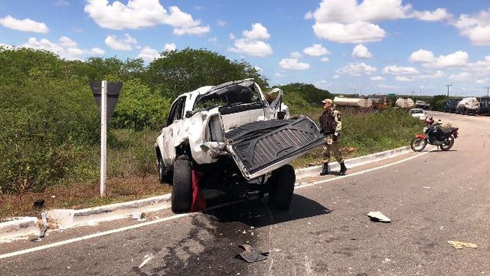 Casal morreu em acidente na BR-406, no RN (Foto: Josivan Dantas)