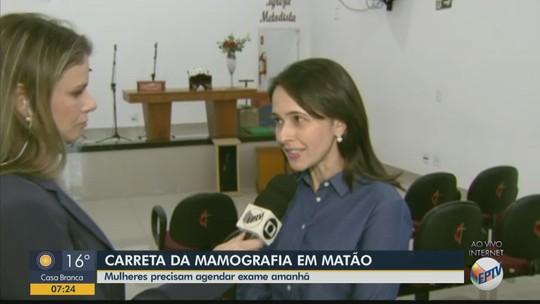 Matão realiza agendamento para exame de mamografia e papanicolau neste sábado