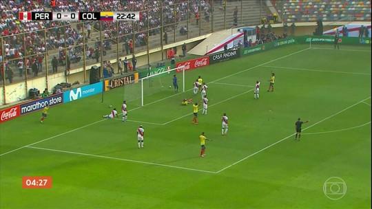 Colômbia vence o Peru por 3 a 0 em amistoso da Copa América