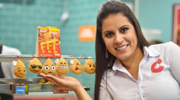 carol, coxinhas (Foto: Divulgação)