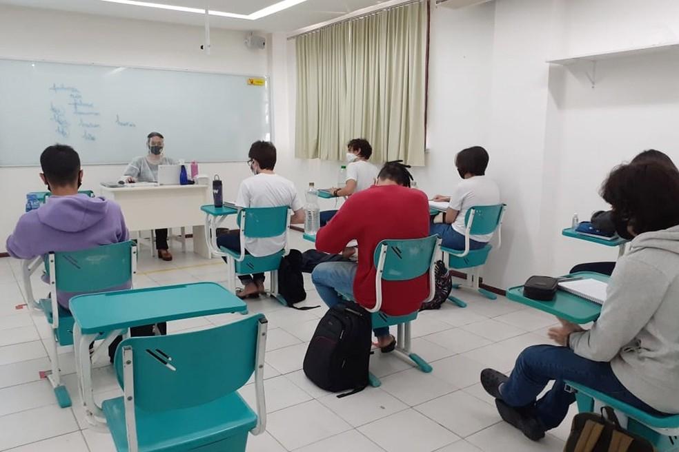 Aula no Ensino Médio — Foto: Ascom NE