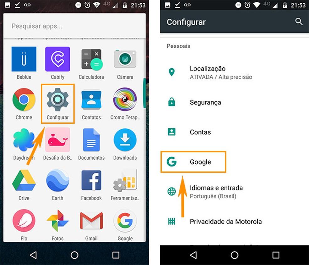 Abra as configurações do Google Now no Android (Foto: Reprodução/Barbara Mannara)