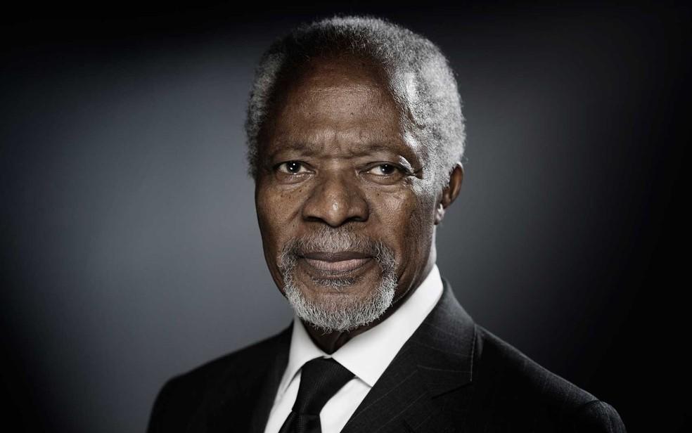 Kofi Annan em dezembro de 2017 (Foto: Joel Saget / AFP)