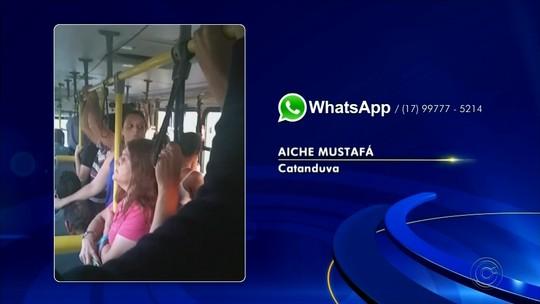 Passageiros reclamam de lotação em ônibus em Catanduva