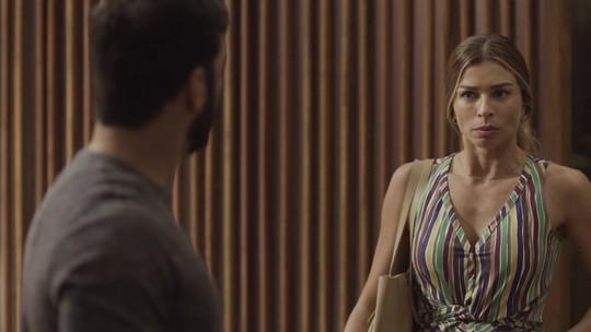 Paloma quase conta a Diogo sobre gravidez de Nana