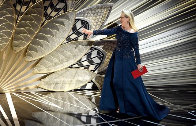 Meryl Streep de Elie Saab no Oscar 2017 (Foto: Getty Images)