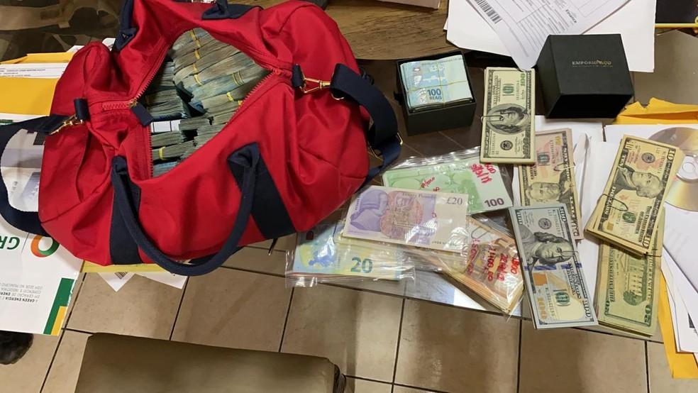 PF apreende dinheiro em operação que investiga suposto vazamento de informações no PA. — Foto: Reprodução / PF