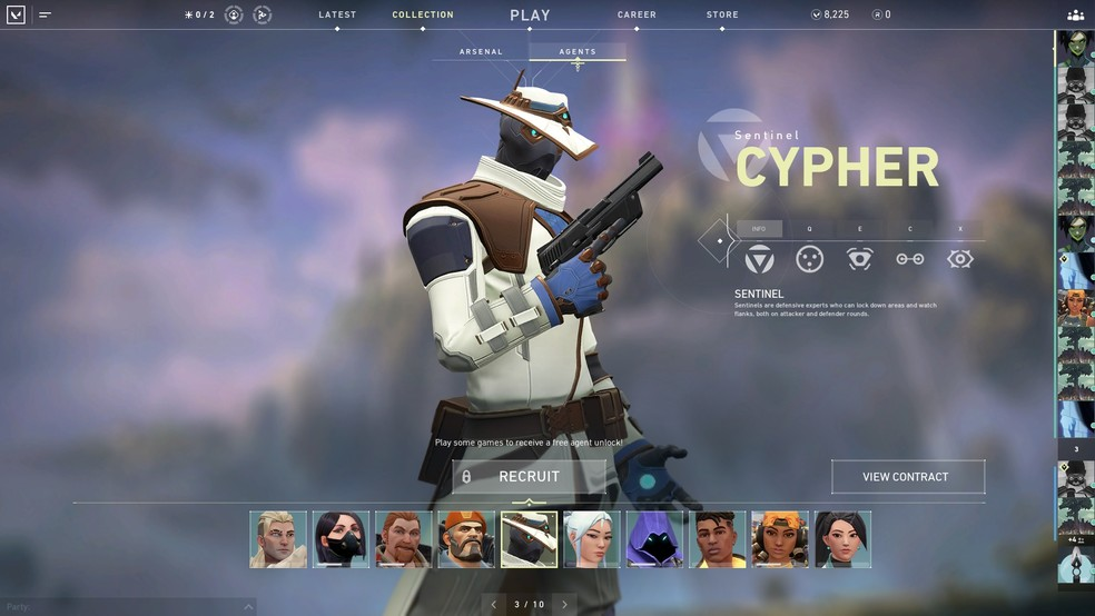 Cypher is one of the characters in the game. (Image: Valorant)