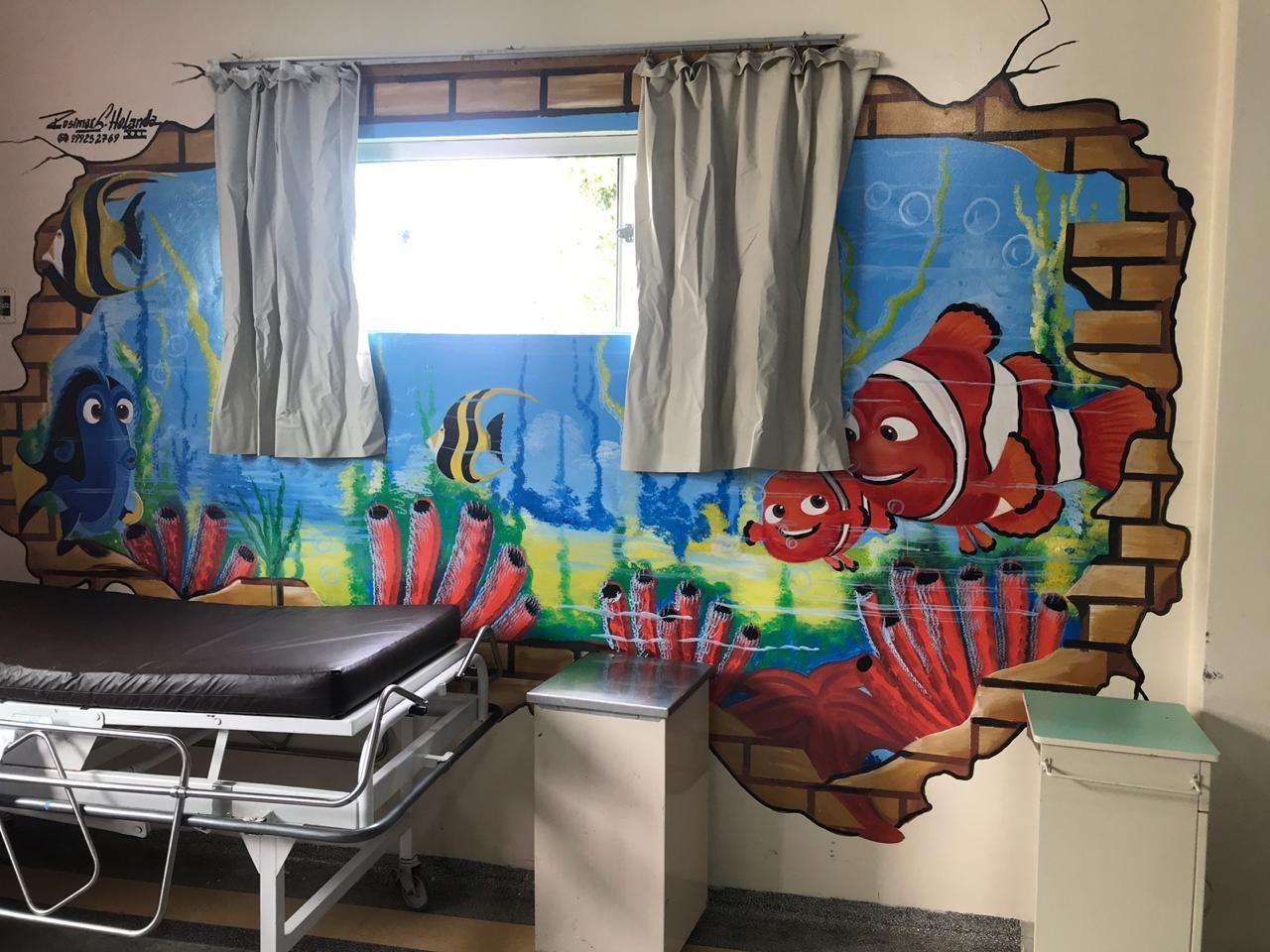 Médico investe R$ 4 mil para incluir desenhos 3D em enfermaria pediátrica no Acre - Notícias - Plantão Diário