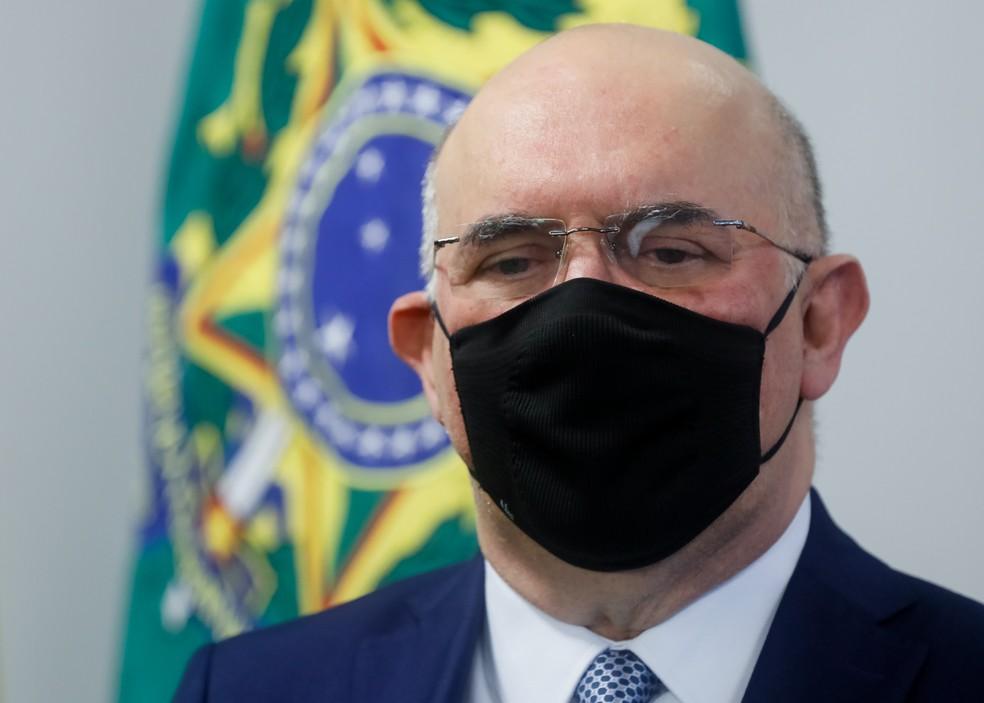 Milton Ribeiro na cerimônia de posse como ministro da Educação — Foto: Isac Nóbrega/Presidência da República