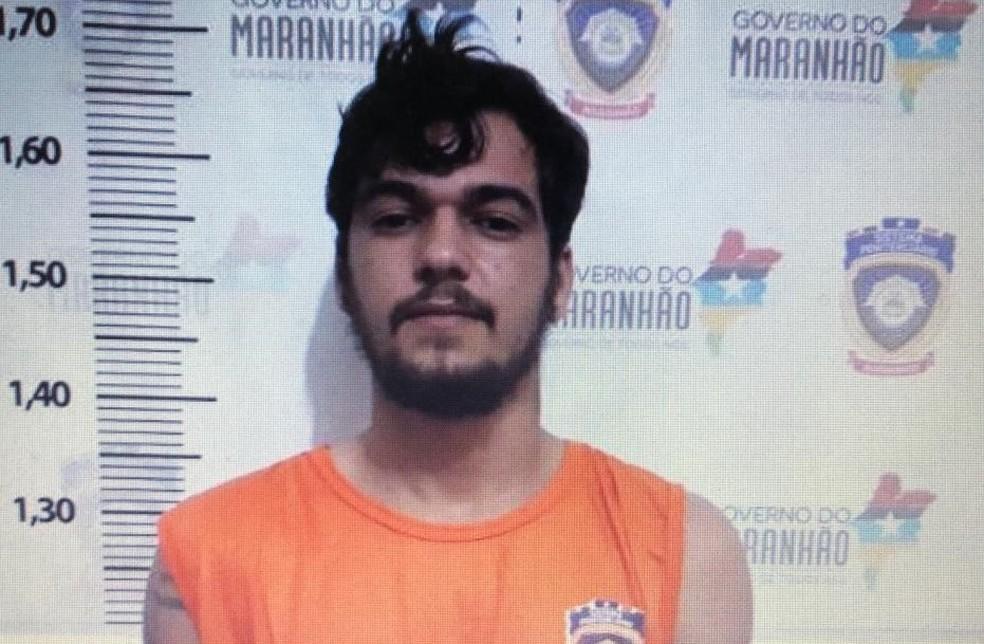 Wesley de Alcântara Almeida permanecerá à disposição da justiça no presídio de Açailândia — Foto: Divulgação/Polícia