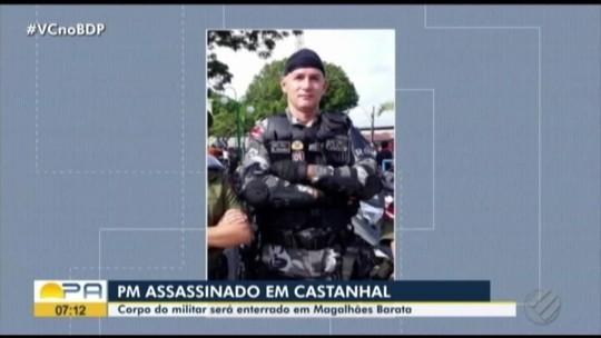 Corpo de sargento da PM assassinado em Castanhal é enterrado em Magalhães Barata
