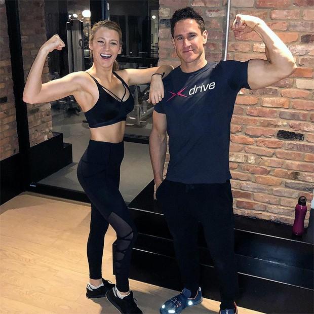 Blake Lively e o personal trainer Don Saladino (Foto: Reprodução/Instagram)