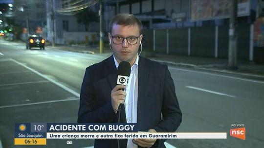 Criança de 11 anos morre após acidente com buggy em Guaramirim, SC