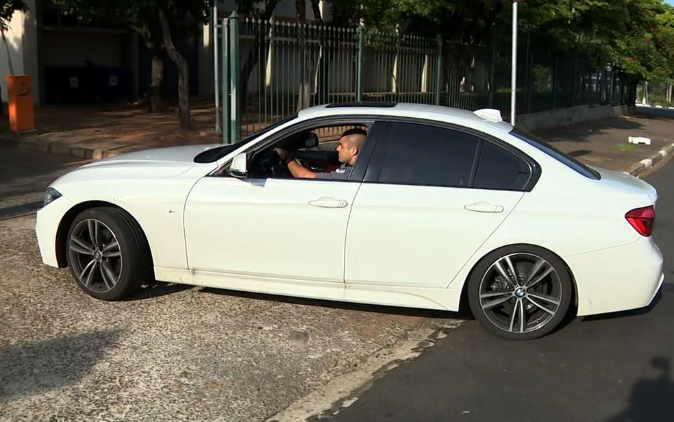 BMW apreendida durante a 'Operação Ouro Verde' (Foto: José Braz/EPTV)