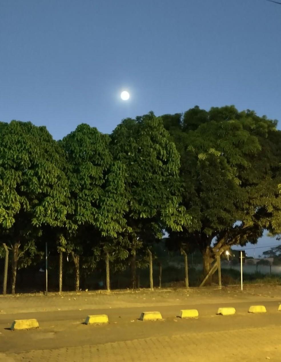 Superlua em Ji-Paraná em 26 de maio de 2021  — Foto: Roni/Arquivo Pessoal