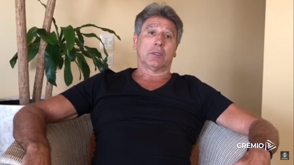 Renato segue no Rio de Janeiro — Foto: Reprodução / Grêmio TV