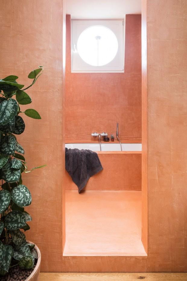 Décor do dia: banheiro em tons terrosos (Foto: Divulgação)