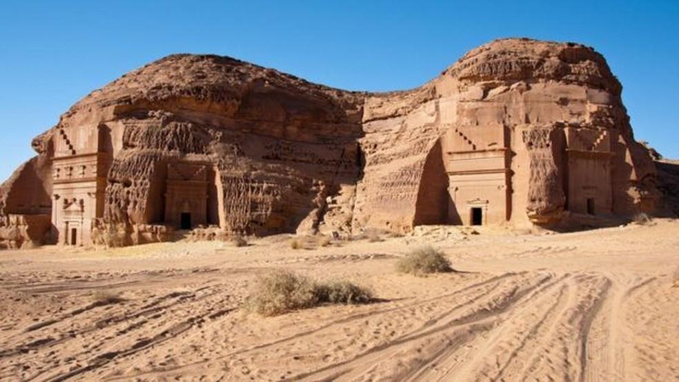 A antiga cidade de Mada'in Saleh — Foto: Getty Images