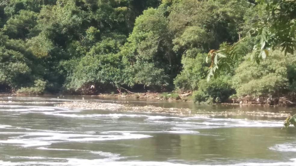Corpo estava às margens do rio Tietê (Foto: GCM Araçariguama)