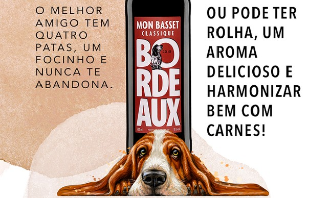 Mon Basset: vinho inspirado em cão de chateau bordalês