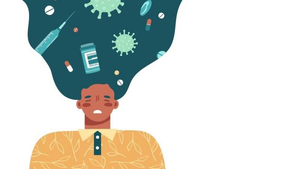 Os transtornos de ansiedade dispararam com a pandemia do coronavírus — Foto: Getty Images via BBC