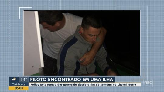 Campeão brasileiro de kart que estava desaparecido é encontrado em ilha de Balneário Piçarras