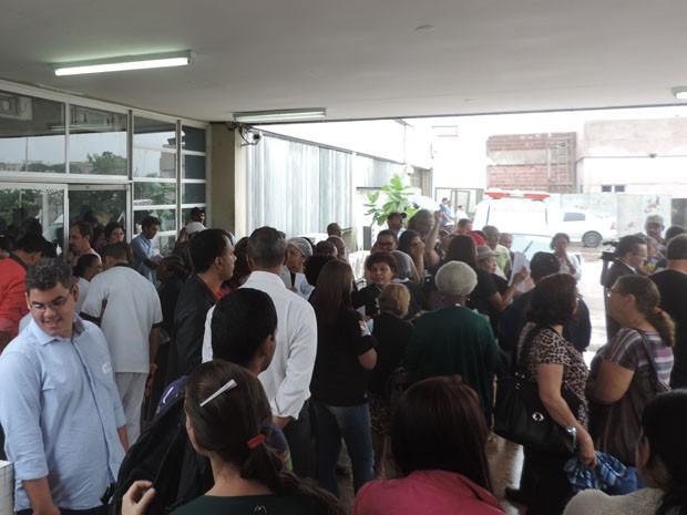 Entrada do ambulatório do Hospital Getúlio Vargas (Foto: Katherine Coutinho/G1)