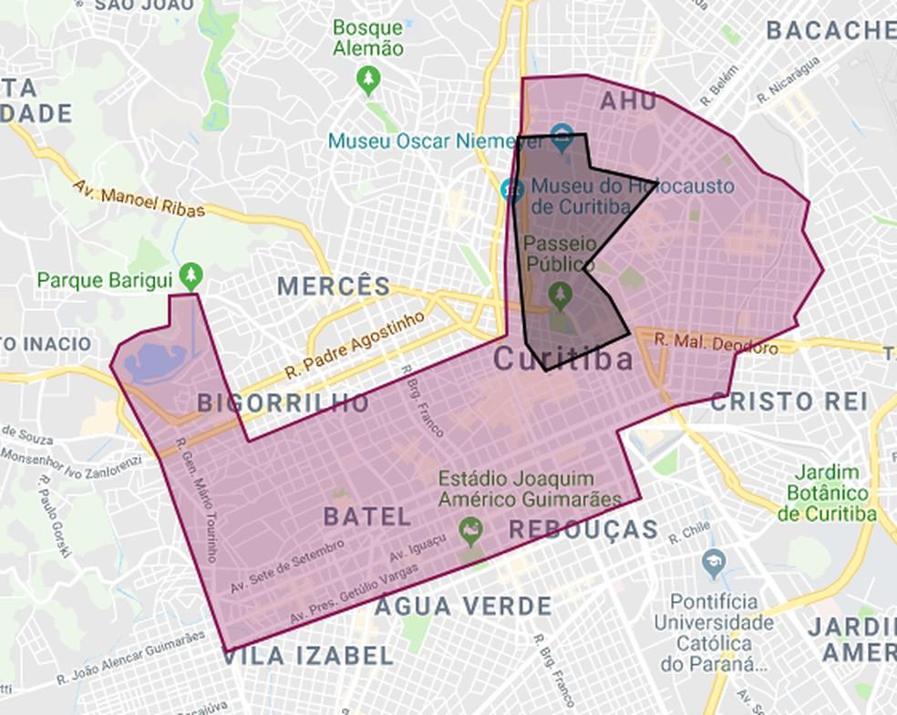Área de atuação da empresa responsável na cidade — Foto: Divulgação/Yellow