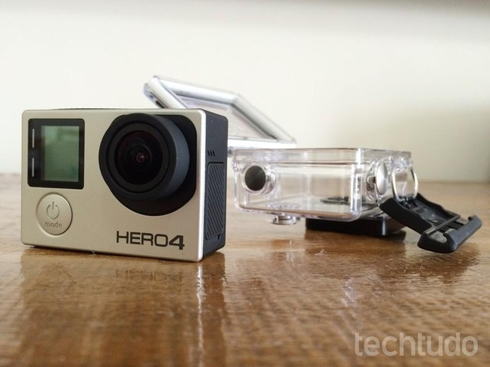 bbe422efa4dce ... Hero4 Silver depende de case externo para ser à prova d água — Foto