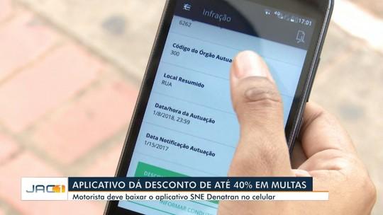 No Acre, apenas 1,4 mil motoristas baixaram app que dá 40% de desconto nas multas de trânsito