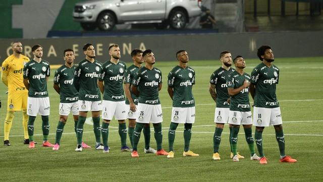 Titulares do Palmeiras contra o River