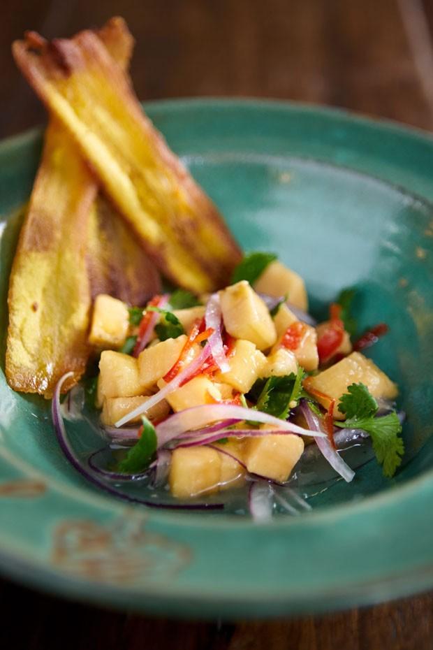 Ceviche de banana: essa versão vegana vai te surpreender! (Foto: Divulgação)