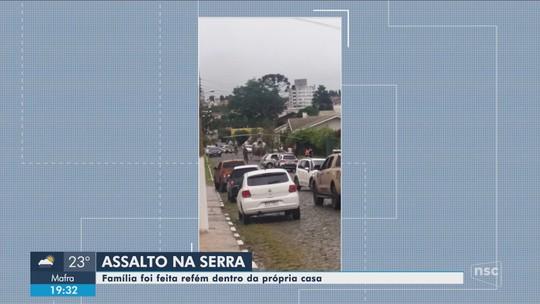 Família é amarrada e feita refém durante assalto na Serra catarinense