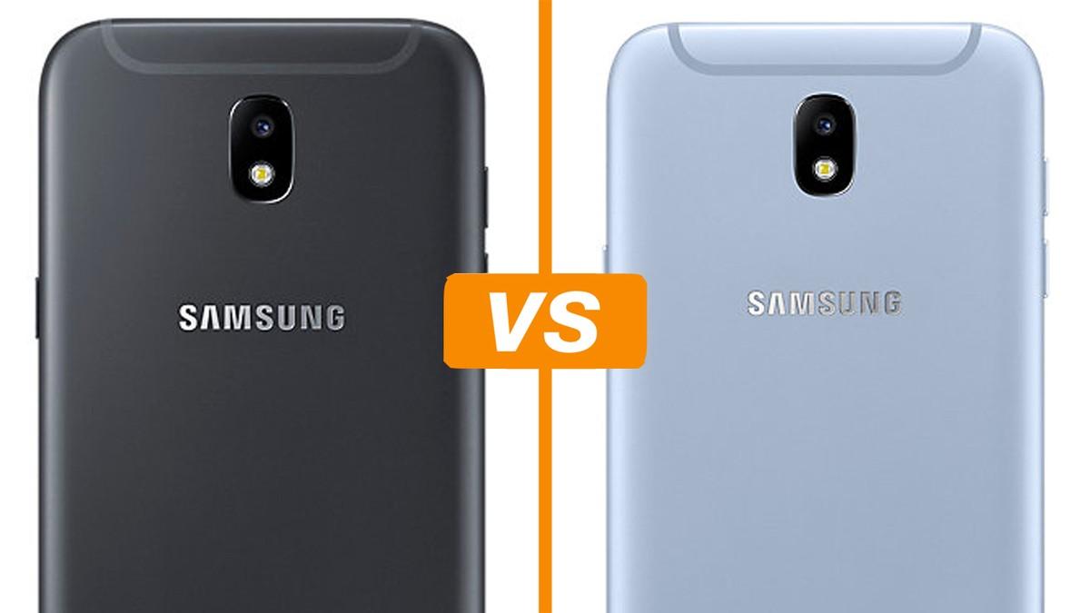 10b026e54f Galaxy J5 Pro vs Galaxy J7 Pro  comparativo detalha especificações ...