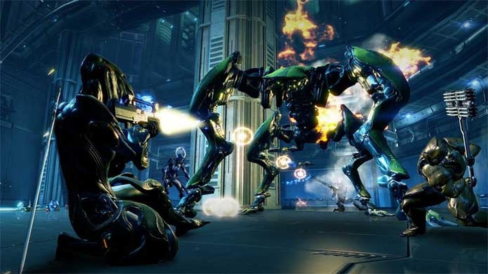 Warframe é um jogo de ação em um mundo de ficção científica — Foto: Divulgação/Digital Extremes