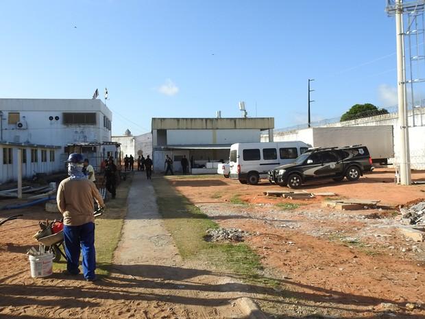 Reformas no Pavilhão 5 de Alcaçuz já estão sendo realizadas e devem ficar prontas em 10 dias (Foto: Andrea Tavares)