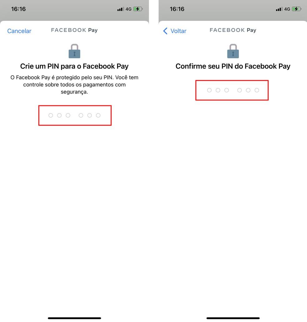Pagamentos no WhatsApp: Facebook Pay tem código PIN de seis dígitos — Foto: Reprodução/Rodrigo Fernandes