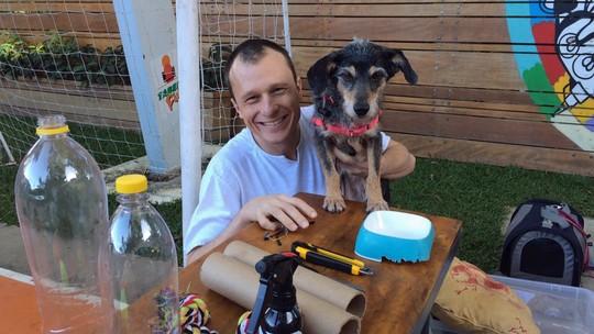 Alexandre Rossi ensina a fazer brinquedos para distrair e acalmar os cães