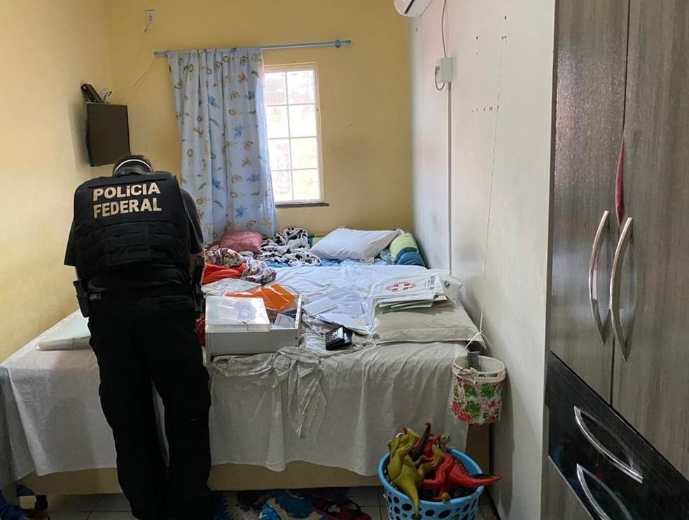 Operação Ludibrio da Polícia Federal (PF) em Buriti dos Lopes — Foto: Divulgação/PF-PI