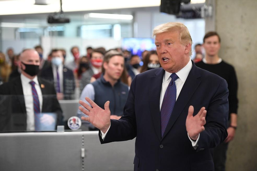 Trump diz que ainda não tem discurso pronto: 'Vencer é fácil; perder nunca  é fácil' | Eleições nos EUA 2020 | G1