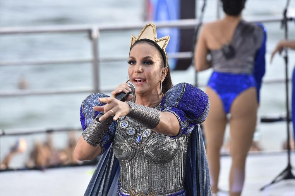 Ivete Sangalo no 3º dia de carnaval de Salvador — Foto: Elias Dantas/Ag. Haack