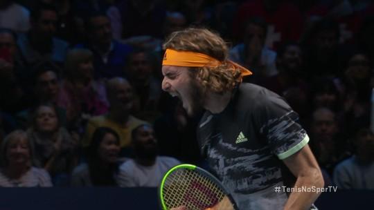 Força mental e repertório vasto: como Tsitsipas foi de sparring a campeão do ATP Finals em 4 anos