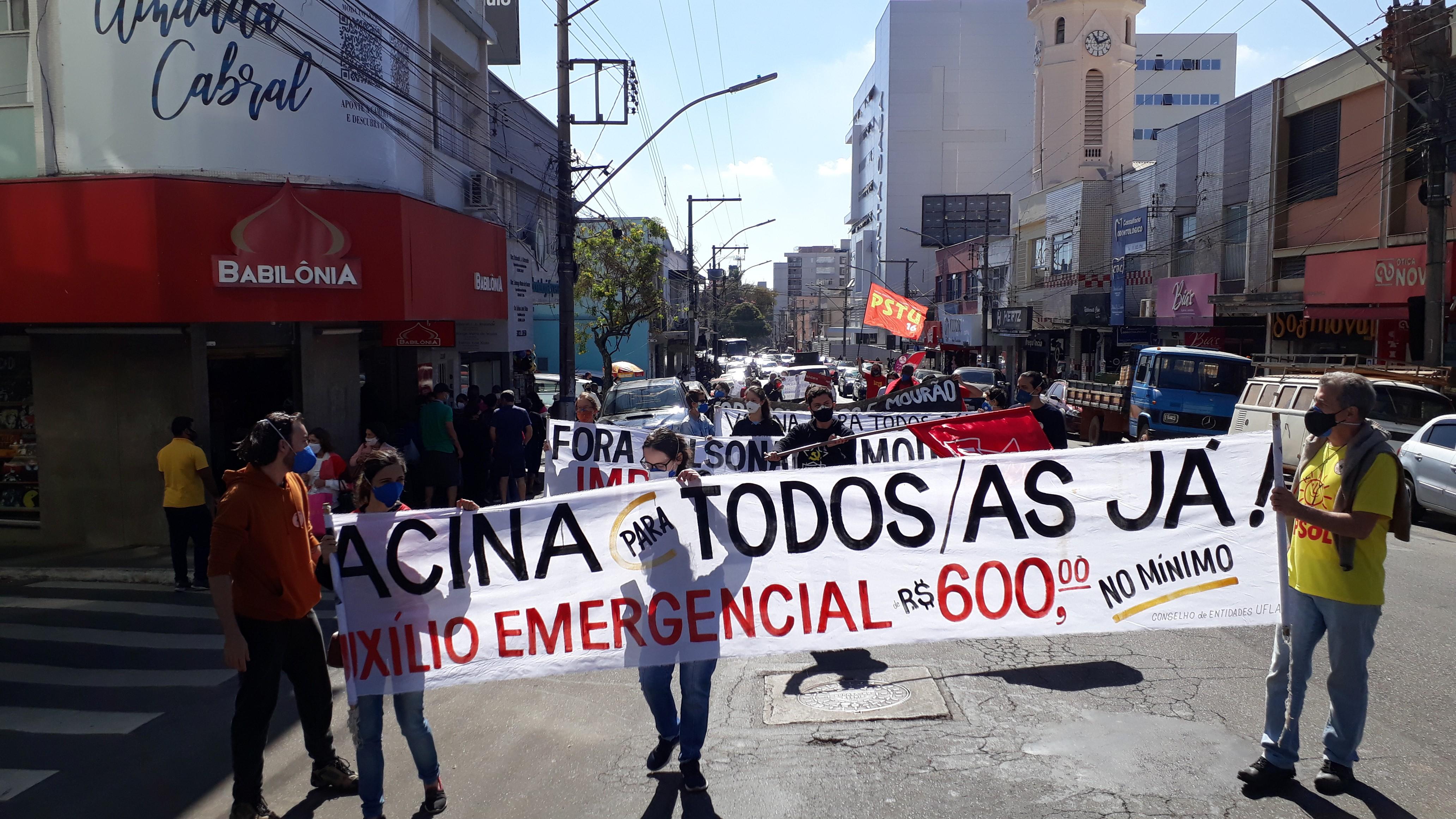 Manifestantes protestam no Sul de Minas contra o presidente Bolsonaro