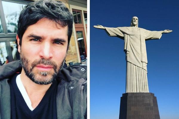 Eduardo Verástegui quer construir uma estátua de Jesus no México (Foto: Reprodução / Instagram; rustyboy20 / Wikimedia Commons)
