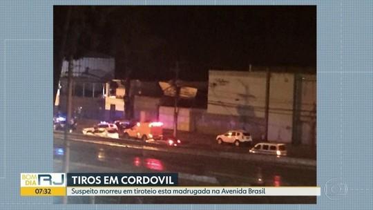 Suspeito morre durante tiroteio na Avenida Brasil