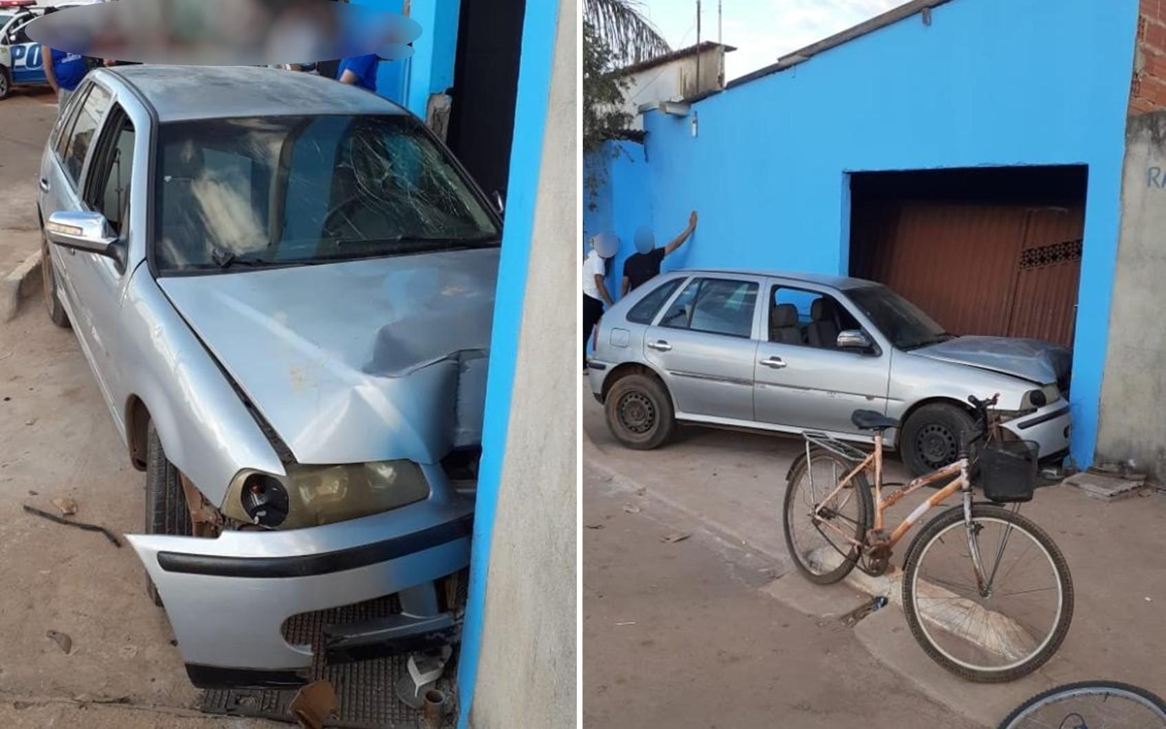Jovem é preso por dirigir bêbado, invadir casa com carro e atropelar crianças em Anápolis, diz PM