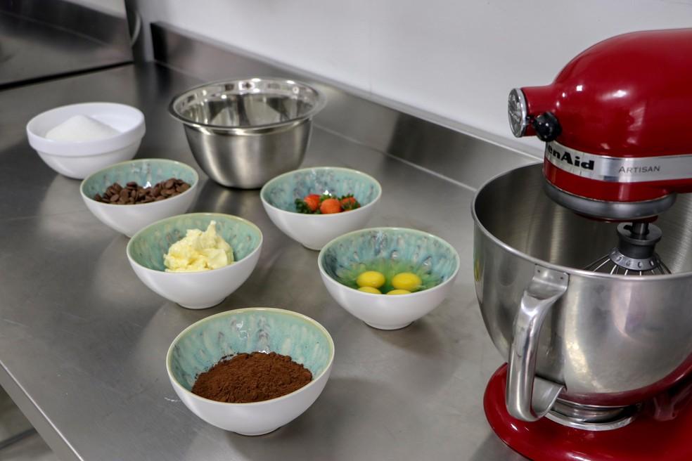 Ingredientes para a receita do brownie tradicional de Fabrícia Marques — Foto: Fabrícia Marques